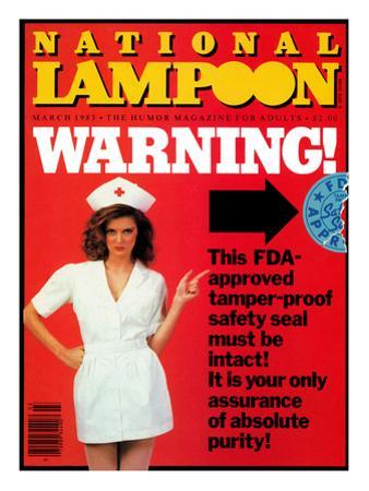 National Lampoon, March 1983 - FDA Warning