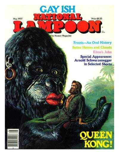 National Lampoon, May 1977 - Gay Ish, Queen Kong--Art Print