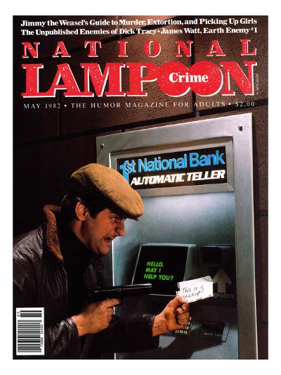 National Lampoon, May 1982 - Crime: Robbing The ATM--Art Print