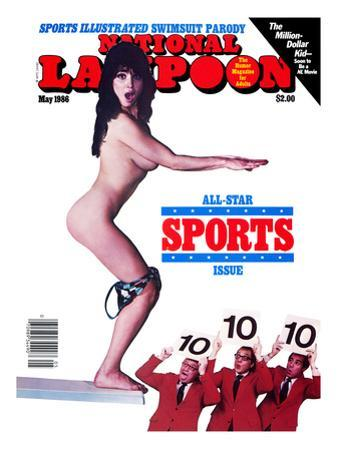 National Lampoon, May 1986 - Sports Illustrated Swimsuit Parody, The Diver