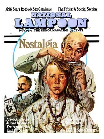 National Lampoon, November 1970 - Nostalgia, a Hippie Haircut