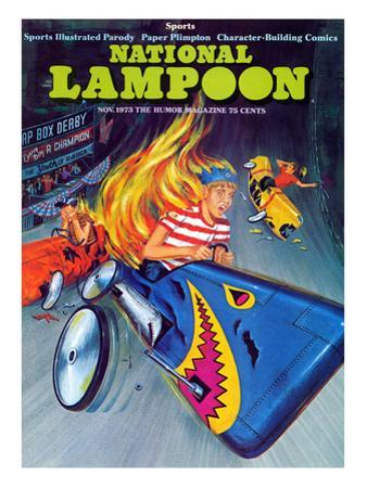 National Lampoon, November 1973 - Sports, Soap Box Derby Crash and Burns