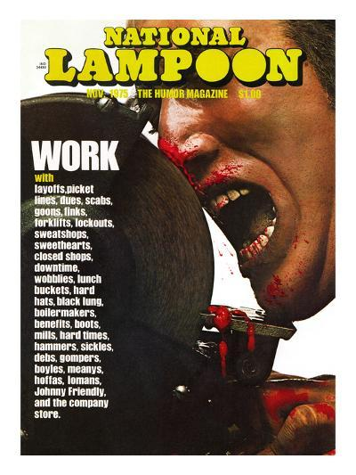 National Lampoon, November 1975 - Work--Art Print