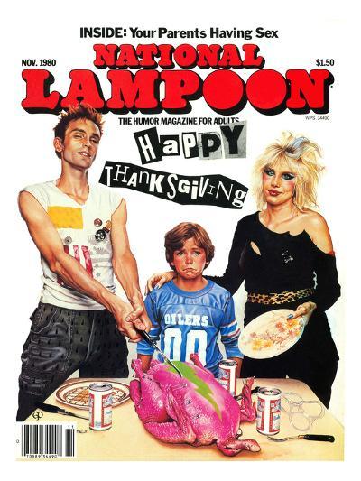 National Lampoon, November 1980 - Inside: Your Parents Having Sex, Punk Thanksgiving--Art Print