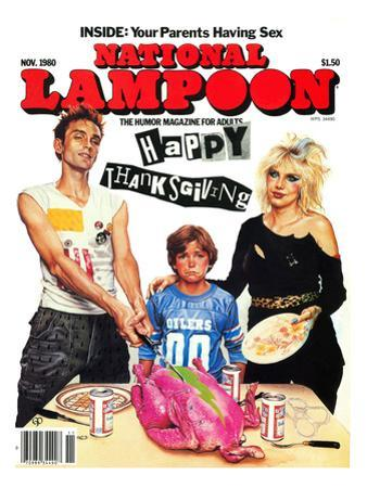 National Lampoon, November 1980 - Inside: Your Parents Having Sex, Punk Thanksgiving