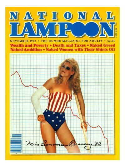 National Lampoon, November 1982 - Miss Economics Recovery '82--Art Print