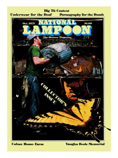 National Lampoon, October 1975 - Collector's Issue, Butterflies in Trash--Art Print