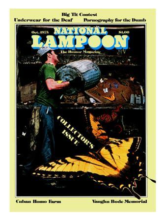 National Lampoon, October 1975 - Collector's Issue, Butterflies in Trash