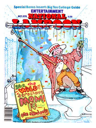National Lampoon, October 1978 - Entertainment, Kid Shows Wild Ferocious Mom in Shower
