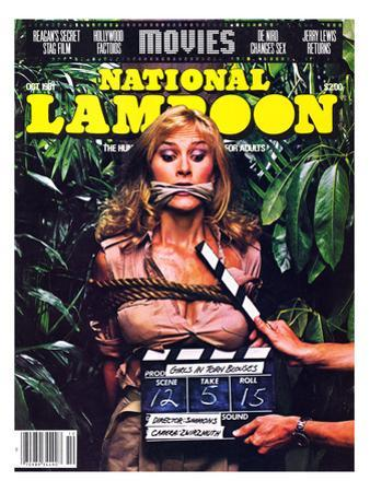National Lampoon, October 1981 - Movies, Damsel in Distress Tied and Caught-Up in the Take 5