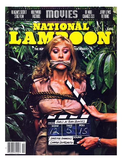 National Lampoon, October 1981 - Movies, Damsel in Distress Tied and Caught-Up in the Take 5--Art Print