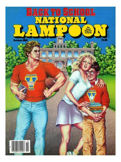 National Lampoon, October 1986 - Back to School--Art Print