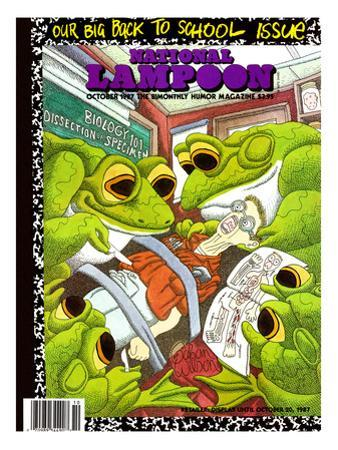 National Lampoon, October 1987 - Back to School Issue, Frogs Dissect Student