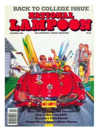 National Lampoon, October 1989 - Back to College Issue