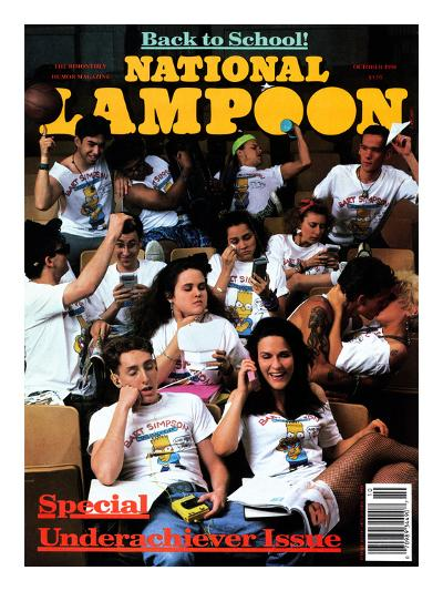 National Lampoon, October 1990 - Back to School--Art Print