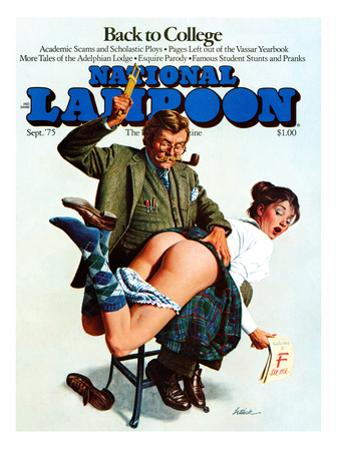 National Lampoon, September 1975 - back to College: Naughty Professor or Naughty Student?