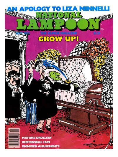 National Lampoon, September 1977 - Grow Up: Childish from the Coffin--Art Print
