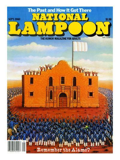 National Lampoon, September 1980 - The Past and How it Got There, Remember the Alamo?--Art Print
