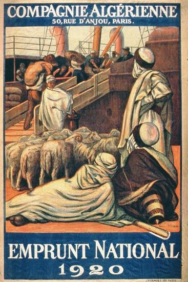 National Loans from the Algerian Company, Paris, 1920--Giclee Print