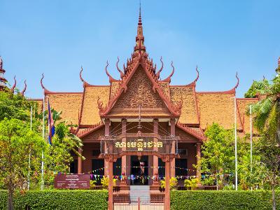 National Museum of Cambodia, Phnom Penh, Cambodia, Indochina, Southeast Asia, Asia-Jason Langley-Photographic Print