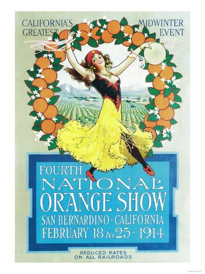National Orange Show - California Poster No.2-Lantern Press-Art Print