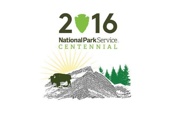 National Park Service Centennial - Bison and Sunrise-Lantern Press-Art Print