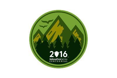 National Park Service Centennial - Mountains Round-Lantern Press-Art Print