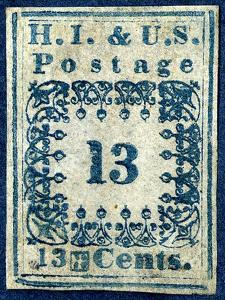 "National Postal Museum: 13-Cent ""H.I."" Hawaiian Missionary stamp"
