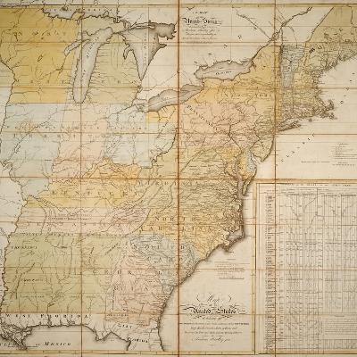 National Postal Museum: 1796 Postal Route Map--Art Print