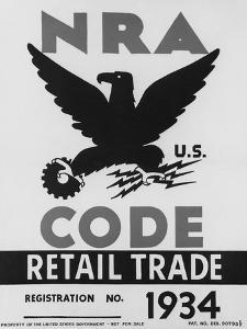National Recovery Administration, NRA, Poster of 1934