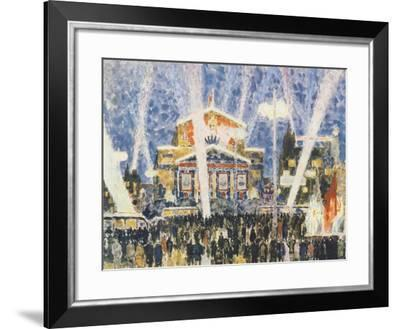 National Theatre in Moscow, Russia 20th Century Print--Framed Giclee Print