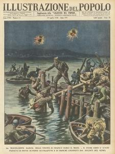 Nationalists Cross the River Ebro at Night as They Advance to the Sea