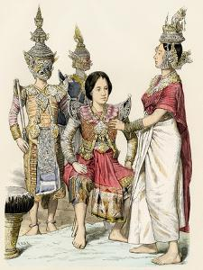 Native Actors and Actresses in Traditional Costume, Siam, 1800s