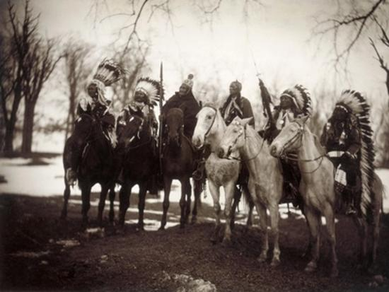 Native American Chiefs Giclee Print By Edward S Curtis Art