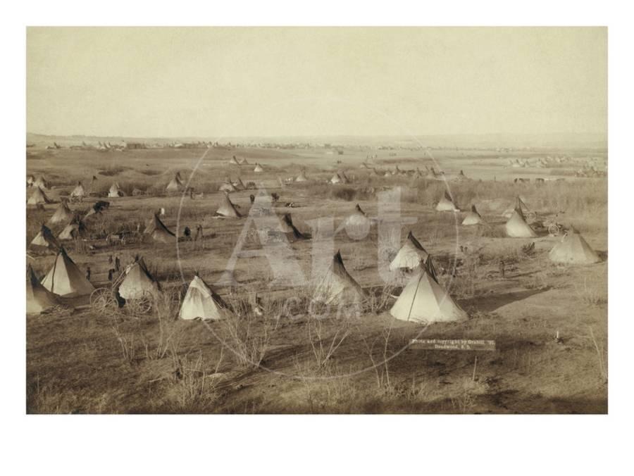 Native American Encampment - Lakota Indians Art Print by John C H  Grabill  | Art com