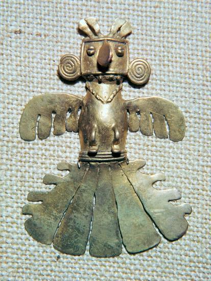 Native American gold condor-Unknown-Giclee Print