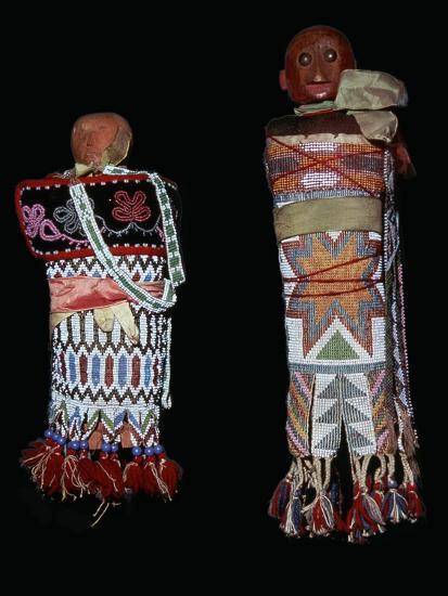 Native American Memomini Dolls-Unknown-Giclee Print