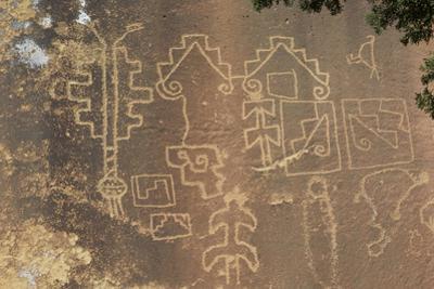 Native American Petroglyphs in Lobo Canyon, Cebolla Wilderness, New Mexico