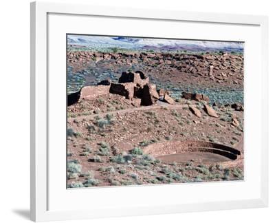 Native American Ruins at Wupatki National Monument, Arizona, USA-Luc Novovitch-Framed Photographic Print