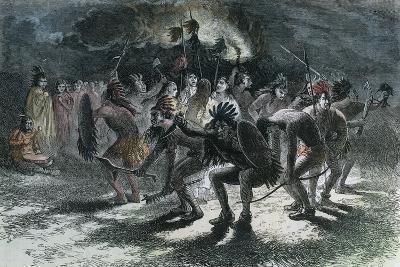 Native American Scalp Dance, C1875--Giclee Print