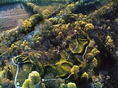 Native American Serpent Mound, Ohio--Giclee Print