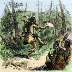 Native American Shaman Leading a Ceremonial Dance