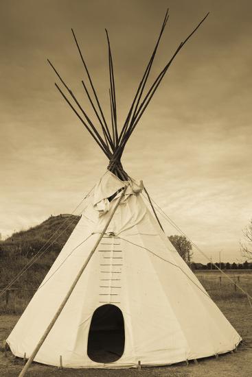 Native American Teepee, Grand Island, Nebraska, USA-Walter Bibikow-Photographic Print