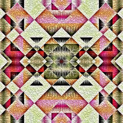 Native American Traditional Decorative Tribal Pattern Design Background-kgtoh-Art Print