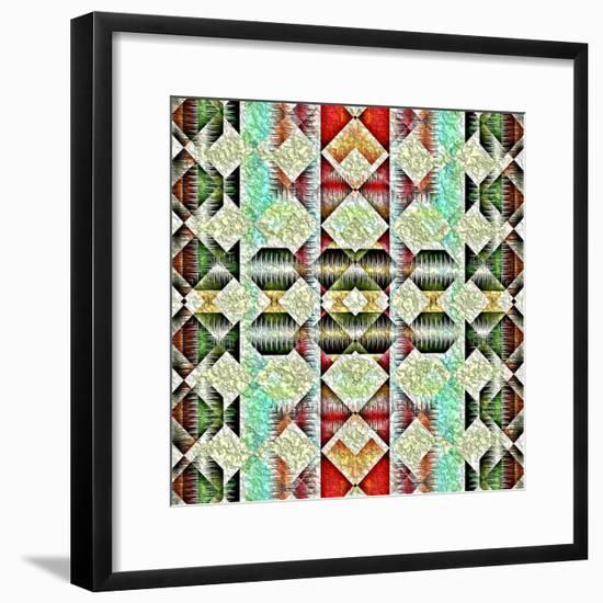 Native American Traditional Pattern-kgtoh-Framed Premium Giclee Print