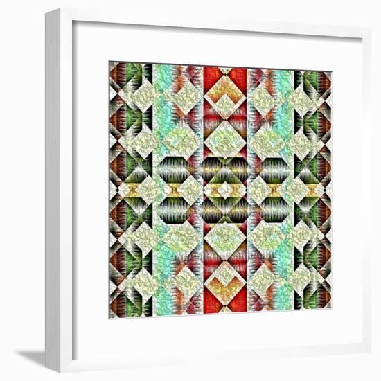 Native American Traditional Pattern-kgtoh-Framed Premium Giclee Print