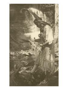 Native American Woman with Camera
