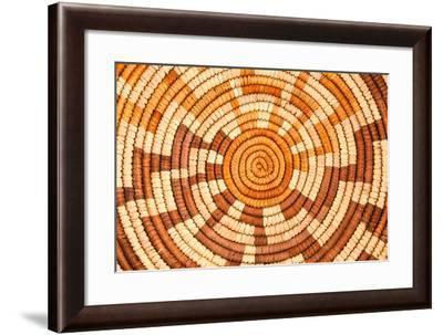 Native American Woven Background Pattern-mandj98-Framed Art Print