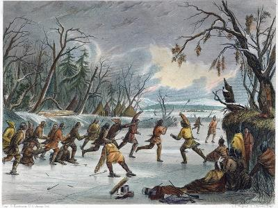 Native Americans: Ball Play, 1855--Giclee Print