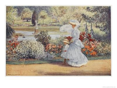 Native Australian and Her Daughter Stroll Among Indigenous Australian Flora in the Botanical Garden-Percy F^s^ Spence-Giclee Print